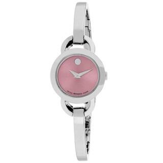 Movado Women's Rondiro Round Silver Bracelet Watch