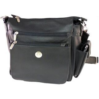 Leather Lock and Key Handgun Shoulder Bag
