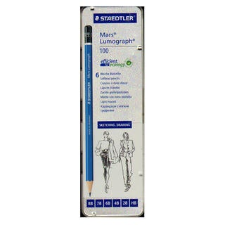 Staedtler Mars Lumograph Sketching Pencil Sets (Pack of 2)