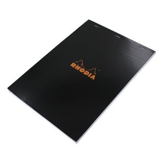 Rhodia No.18 8.25 x 12-inch 80 Sheet Graph Paper Pad, Black (182009)