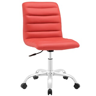 Porch & Den Silver Lake Bancroft Mid-back Office Chair (Option: Red)