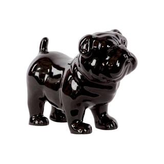 Black Ceramic Standing British Bulldog
