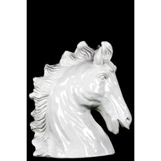 Gloss  White Ceramic Horse Head