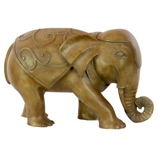 Bronze Resin Walking Elephant Statue