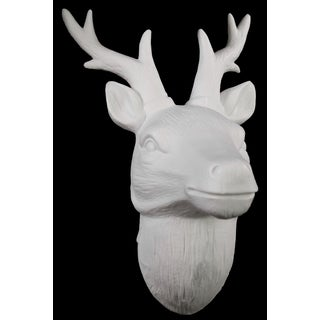 Porcelain Deer Head Wall Decor White Free Shipping On Orders