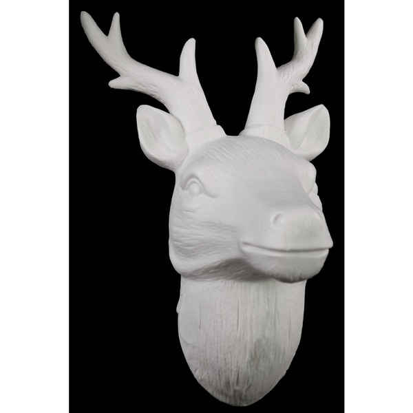 Matte White Porcelain Deer Head Wall Decor Free Shipping On Orders Over 45 Overstock 16863112