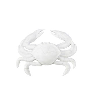 Matte White Resin Crab Figurine