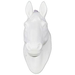 Matte White Ceramic Horse Head Wall Decor