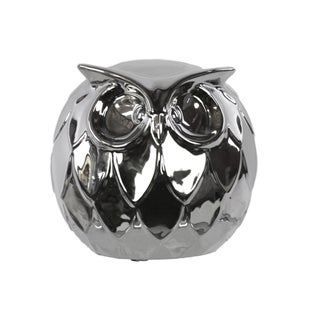 Chrome Ceramic Owl