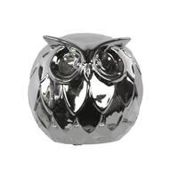 Chrome Ceramic Owl