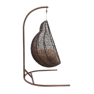 Brown Metal/Rattan Swing