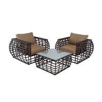 Aluminum Wicker Outdoor Furniture Set (set of 3)