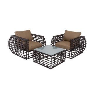 Aluminum Wicker Outdoor Furniture Set (set of 3)