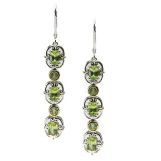 Michael Valitutti Palladium Silver Arizona Peridot Earrings