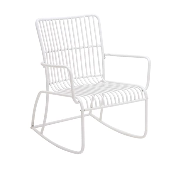 Metal Outdoor White Rocking Chair. Opens flyout.