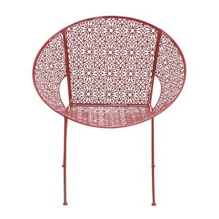 Red Metal Patio Chair