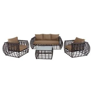 Alum 4-piece Wicker Outdoor Furniture Set