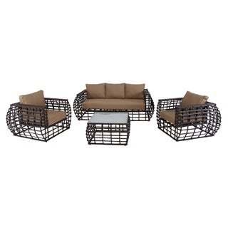 Alum 4-piece Wicker Outdoor Furniture Set