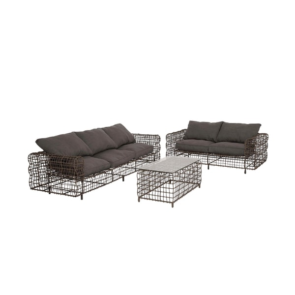 Metal Vinyl Sofa Outdoor Furniture Set Set Of 3 Free