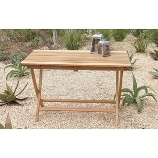 Large Teak Wood Folding Table