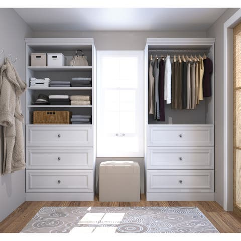 Versatile by Bestar 72-inch Classic Closet Organizer Set