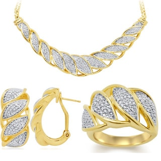Divina Fashion 1/4ct TDW 3-piece Diamond Jewelry Set