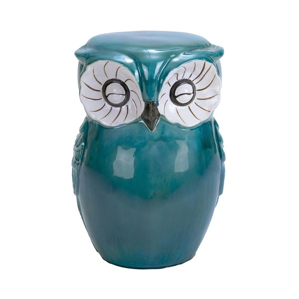 Green Ceramic Owl Stool - Free Shipping Today - Overstock ...