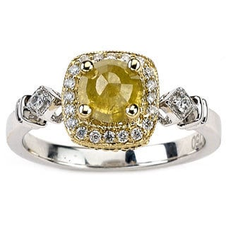 Neda Behnam Diamonds for a Cure 18k Two-tone Gold 1 1/4ct TDW Fancy Yellow and White Diamond Ring (G-H, SI1-SI2)