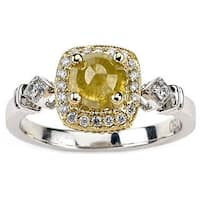 Neda Behnam Diamonds for a Cure 18k Two-tone Gold 1 1/4ct TDW Fancy Yellow and White Diamond Ring