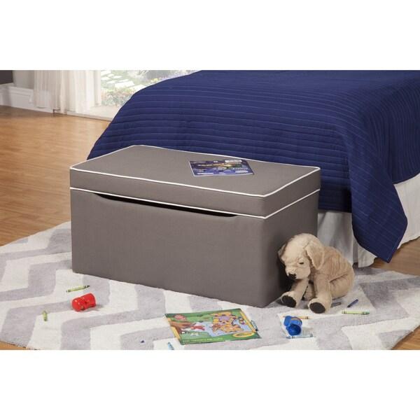 HomePop Grey Storage Bench