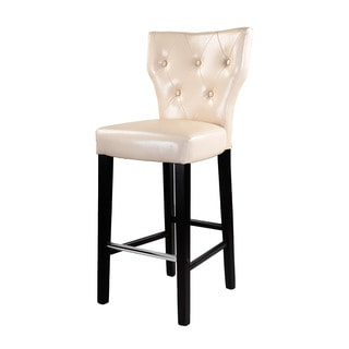 CorLiving Kings Bonded Leather Espresso Bar Stools (Set of 2)