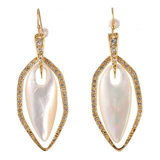 De Buman 18k Yellow Gold Plated Mother of Pearl Earrings https://ak1.ostkcdn.com/images/products/9685355/P16863804.jpg?impolicy=medium