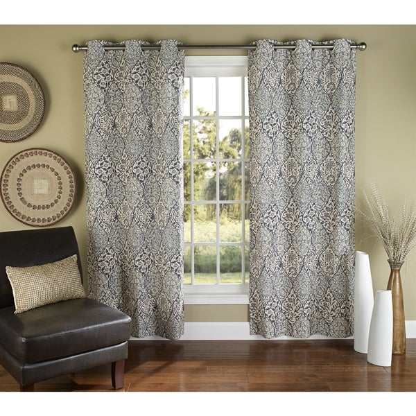 Curtains Ideas batik curtain panels : m.style Batik 84-inch Curtain Grommet Panel Pair - Free Shipping ...