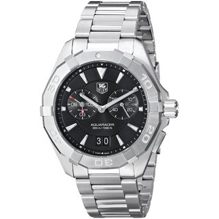 Link to Tag Heuer Men's WAY111Z.BA0910 '300 Aquaracer' Black Dial Stainless Steel Alarm Quartz Watch Similar Items in Men's Watches