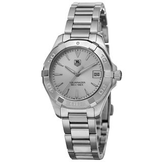 Tag Heuer Women's WAY1311.BA0915 '300 Aquaracer' Silver Dial Stainless Steel Bracelet Quartz Watch