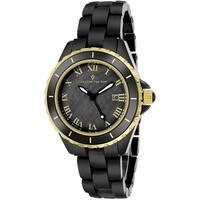 Christian Van Sant Women's  Palace Round Black Bracelet Watch