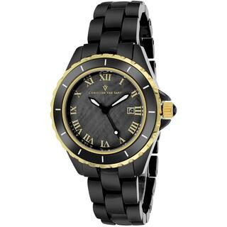 Christian Van Sant Women's CV9415 Palace Round Black Bracelet Watch