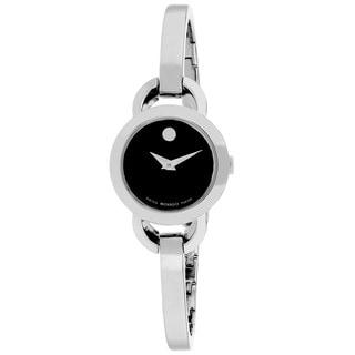 Movado Women's 0606796 Rondiro Round Silver Bracelet Watch