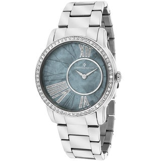 Christian Van Sant Women's CV3611 Exquisite Round Silver Bracelet Watch
