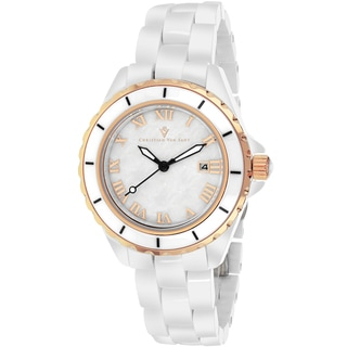 Christian Van Sant Women's CV9412 Palace Round White Bracelet Watch