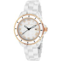 Christian Van Sant Women's CV9412 Palace Round White Bracelet Watch