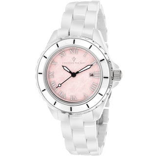Christian Van Sant Women's CV9413 Palace Round White Bracelet Watch