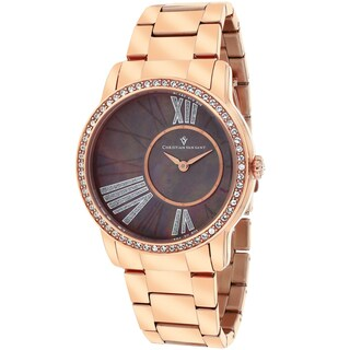 Christian Van Sant Women's CV3614 Exquisite Round Rose Gold Bracelet Watch