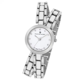 Christian Van Sant Women's CV5610 Spiral Round Two-tone Bracelet Watch