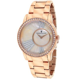 Christian Van Sant Women's CV3613 Exquisite Round Rose Gold Bracelet Watch