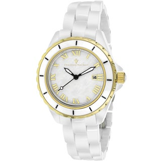 Christian Van Sant Women's Palace Round White Bracelet Watch