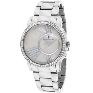 Christian Van Sant Women's CV3610 Exquisite Round Silver Bracelet Watch