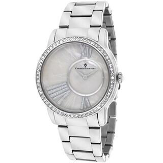 Christian Van Sant Women's CV3610 Exquisite Round Silver Bracelet Watch