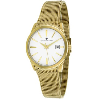 Christian Van Sant Women's CV2414 Skin Round Gold Bracelet Watch