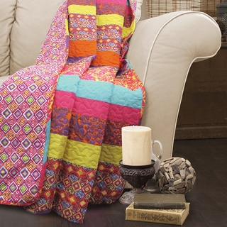 Lush Decor Boho Stripe Quilted Throw